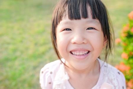 kid smiling pediatric dentist in Grande Prairie, AB