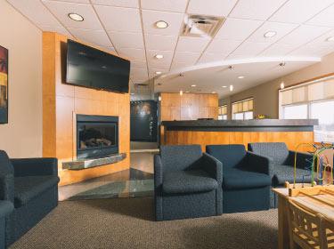 waiting room at Higson Dental Group in Grande Prairie, AB
